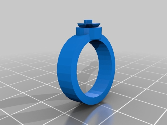 bright heart ring for metal 3D Print 14604