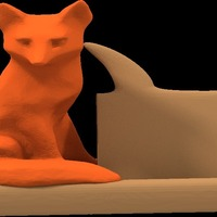 Small mr fox says business card holder 3D Printing 14606