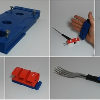 Small Latching device for people with mobility disabilities in hands.  3D Printing 146070