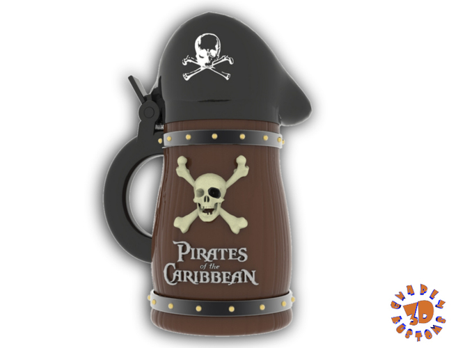 Pirates of the Caribbean Beer Stein - The Bubba Style 3D Print 146091