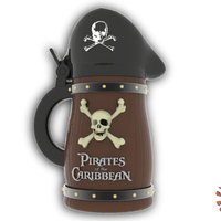 Small Pirates of the Caribbean Beer Stein - The Bubba Style 3D Printing 146091