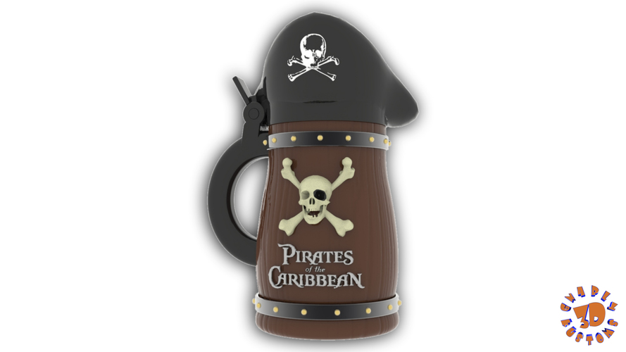 Pirates of the Caribbean Beer Stein - The Bubba Style 3D Print 146092