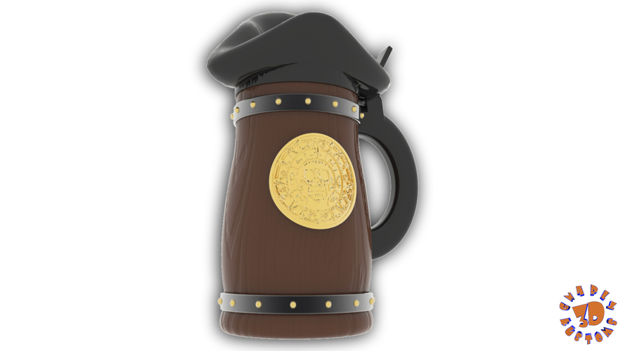 Pirates of the Caribbean Beer Stein - The Bubba Style 3D Print 146093