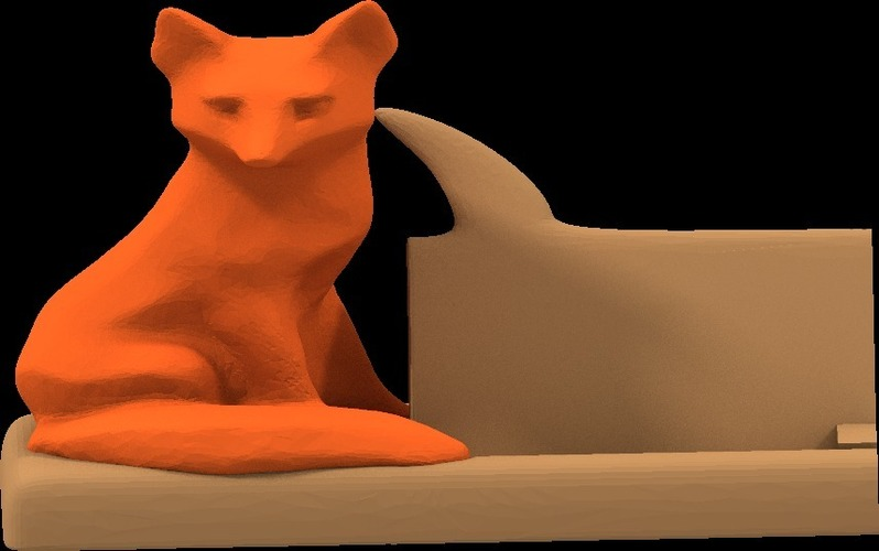 Mr Fox says business card holder 3D Print 14611