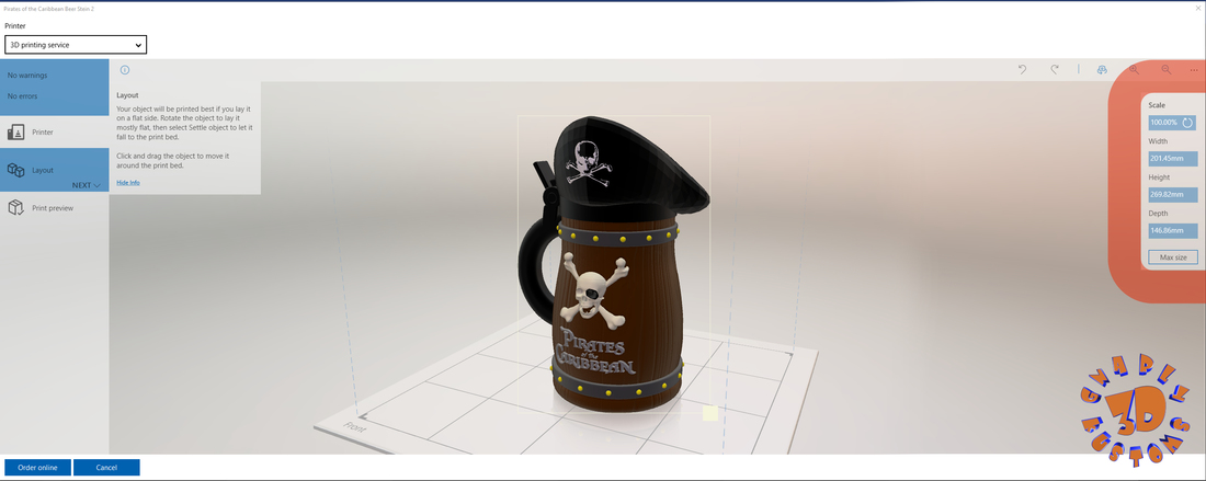 Pirates of the Caribbean Beer Stein - The Bubba Style 3D Print 146119