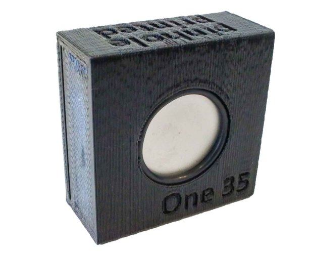 One 35 -  One Piece 3D Printed Pinhole Camera 3D Print 146142