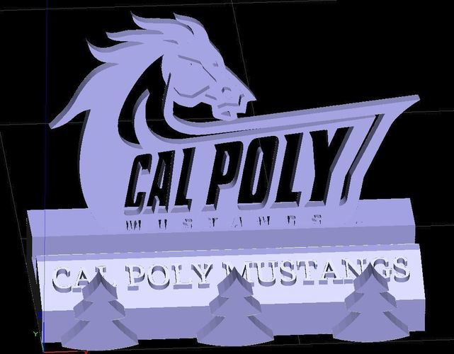 Cal Poly San Luis Obispo SLO Mustangs Phone Stand (3 designs) 3D Print 146151