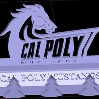 Small Cal Poly San Luis Obispo SLO Mustangs Phone Stand (3 designs) 3D Printing 146151