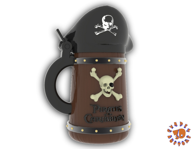 Pirates of the Caribbean Beer Stein - The Angled Style 3D Print 146152