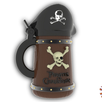 Small Pirates of the Caribbean Beer Stein - The Angled Style 3D Printing 146152