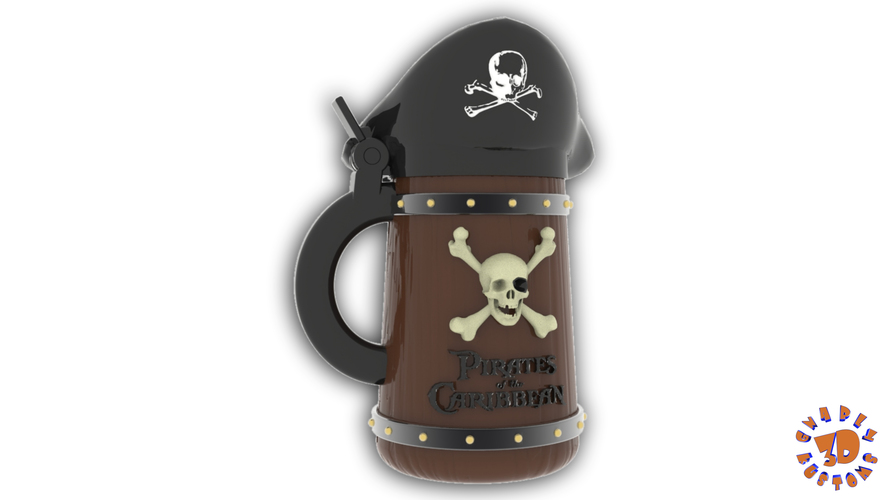 Pirates of the Caribbean Beer Stein - The Angled Style 3D Print 146153