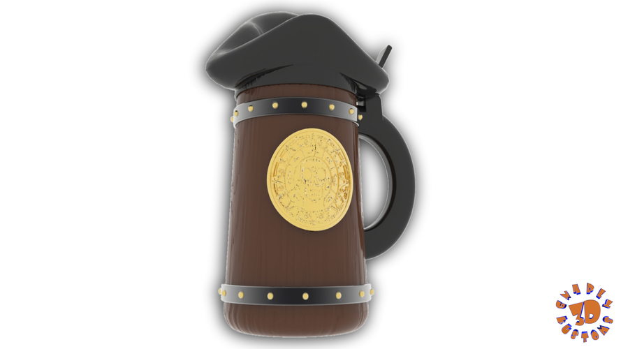 Pirates of the Caribbean Beer Stein - The Angled Style 3D Print 146154