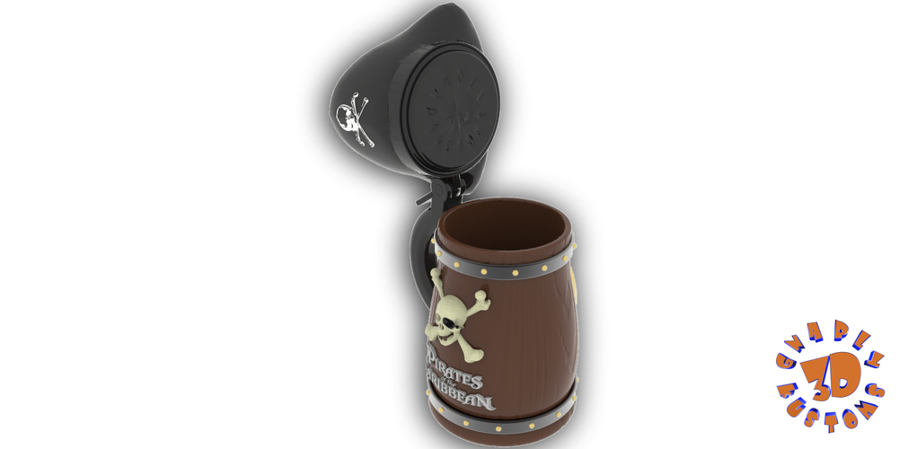 Pirates of the Caribbean Beer Stein - The Angled Style 3D Print 146159