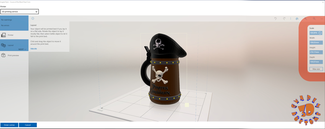 Pirates of the Caribbean Beer Stein - The Angled Style 3D Print 146162