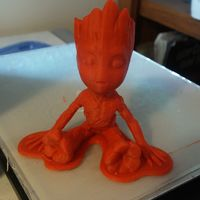 Small baby groot with base 3D Printing 146229