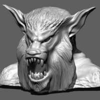 Small WolfMan Head 3D Printing 146265