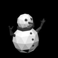 Small Snowman lowpoly 3D Printing 146377