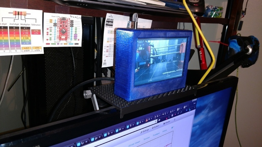 Easy Print Monitor Shelf 3D Print 146410