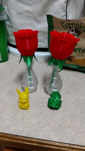 Low-poly Rose Twist Vase 3D Print 146419