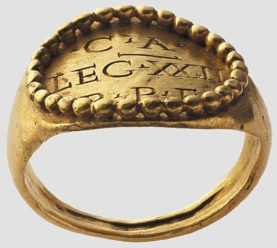 Roman officer ring replica 3D Print 146510