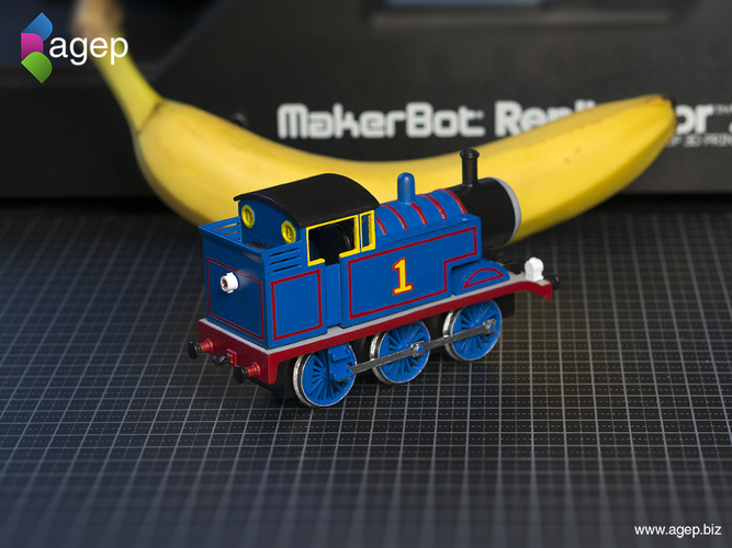 3D Printed Thomas the Tank Engine - Thomas & Friends by