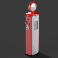 Small Gas Pump - Tokhein 39 (tall version) 3D Printing 146635