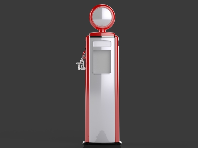 Gas Pump - Tokhein 39 (tall version) 3D Print 146651
