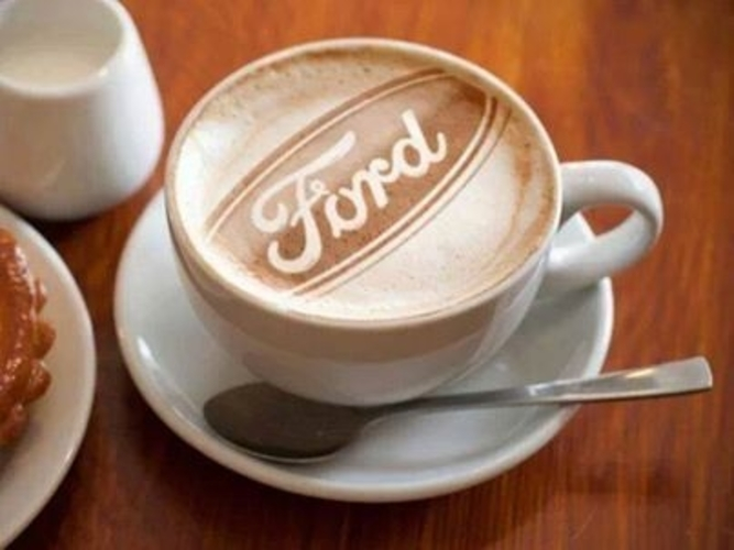 """Ford"" coffee art stencil 3D Print 146666"