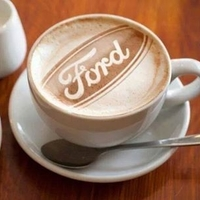 "Small ""Ford"" coffee art stencil 3D Printing 146666"