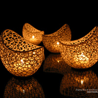 Small Filigree double wall tealight holder 3D Printing 146681