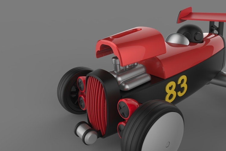 UPGRADE PACK 1 for the Modular HOT ROD designer toy 3D Print 146785