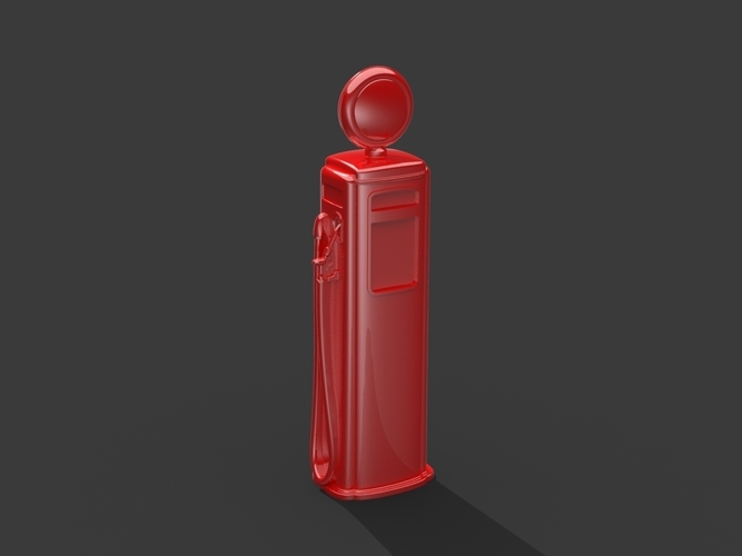 Gas Pump (Simplified for Small Prints) 3D Print 146786