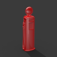 Small Gas Pump (Simplified for Small Prints) 3D Printing 146786