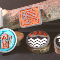 Small Twin Peaks Badges 3D Printing 146829