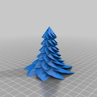 Small Christmas Tree hanging 3D Printing 14689