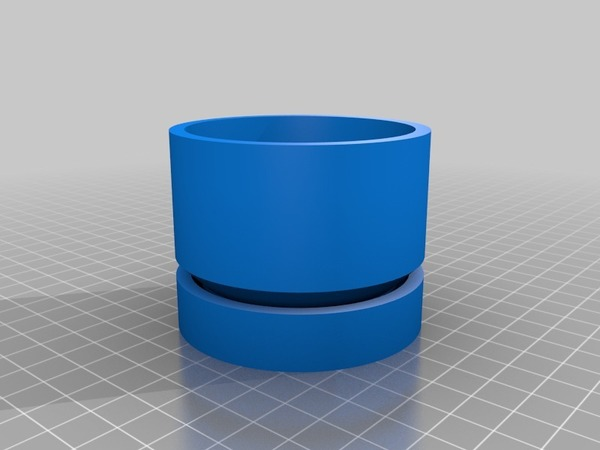 Medium Plant pot and saucer 3D Printing 14692