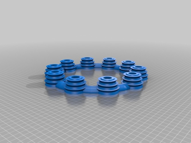 LED round Candle holder ring  3D Print 14695