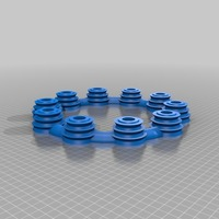 Small LED round Candle holder ring  3D Printing 14695