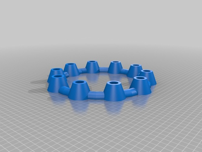 LED round Candle holder ring no rings round candles 3D Print 14697