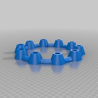 Small LED round Candle holder ring no rings round candles 3D Printing 14697