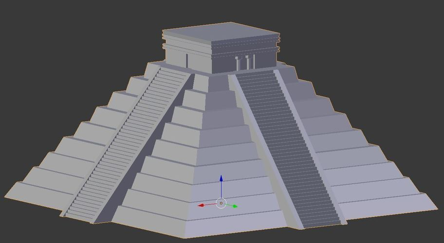 Ancient Mayan Pyramid- Temple of Kulkulcan 3D Print 147005