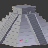 Small Ancient Mayan Pyramid- Temple of Kulkulcan 3D Printing 147005