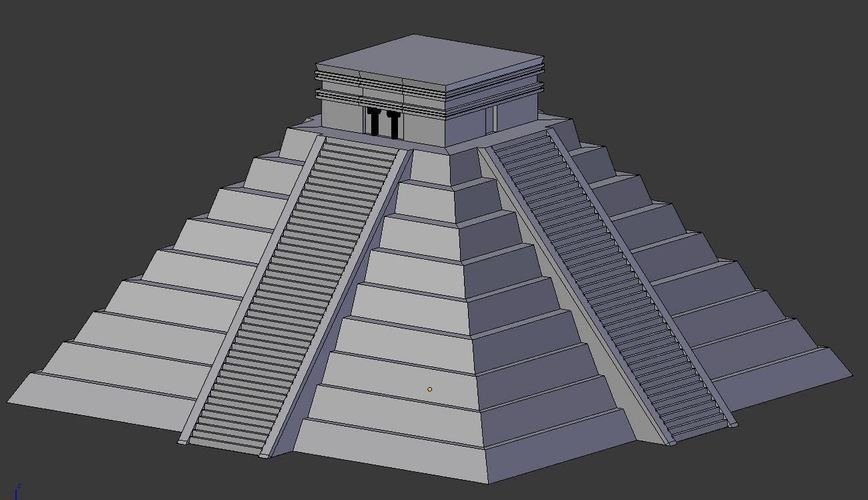 Ancient Mayan Pyramid- Temple of Kulkulcan 3D Print 147006