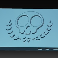 Small iPhone 5S Skull Case vol.2 3D Printing 147021