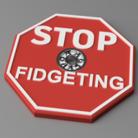 Small Stop Fidgeting spinner 3D Printing 147114