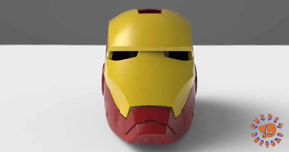 Iron Man Helmet (High Res) 3D Print 147274