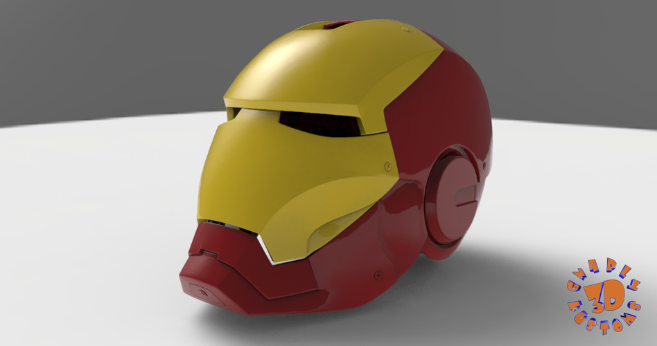 Iron Man Helmet (High Res) 3D Print 147275