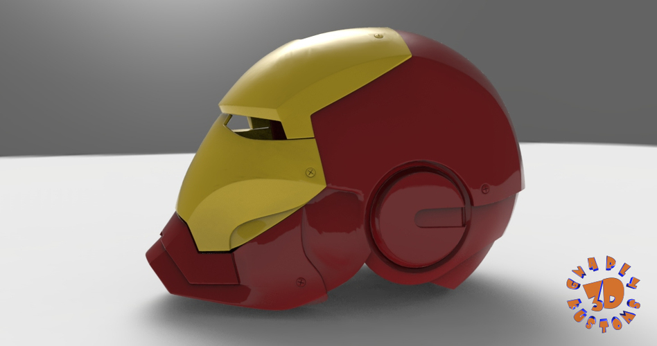 Iron Man Helmet (High Res) 3D Print 147276