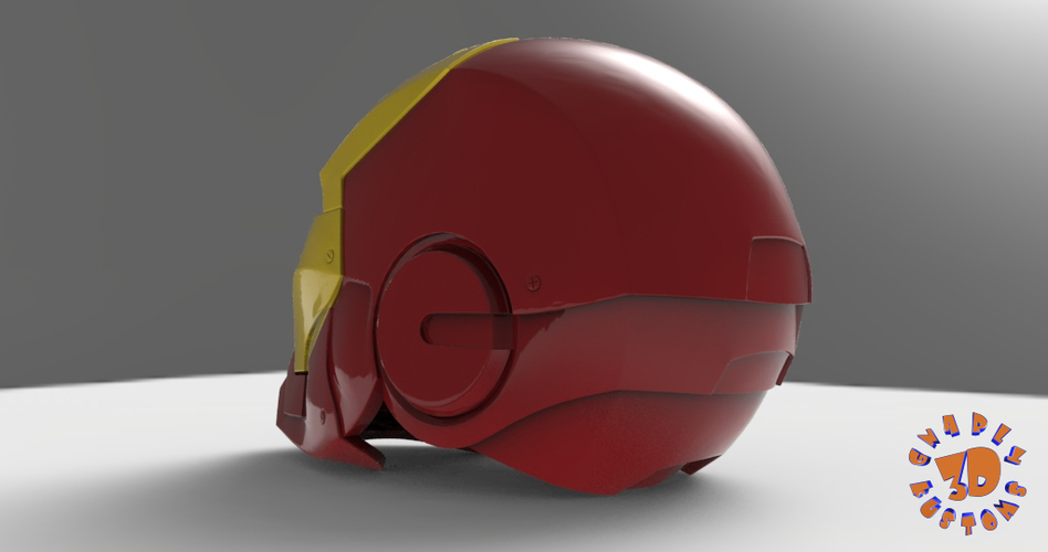 Iron Man Helmet (High Res) 3D Print 147277