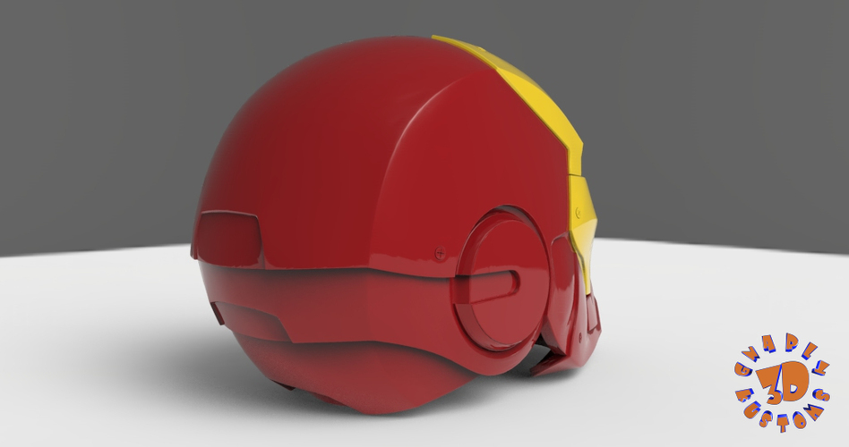 Iron Man Helmet (High Res) 3D Print 147279